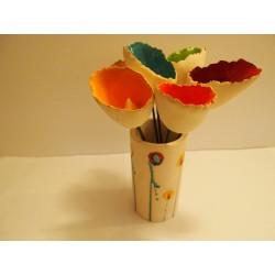 fleur tubulaire céramique petit modèle