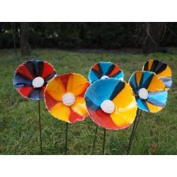 fleur céramique ronde