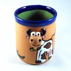 Mug animal avec tête en relief