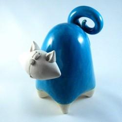 Chat céramique spirale Sylvain