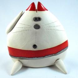Chats rayés Mitsu en céramique