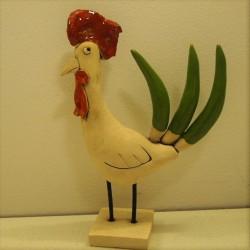 Coq céramique René