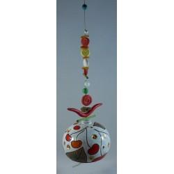 Carillon boule fond blanc long string