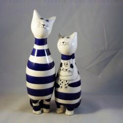 couple de chats en marinière