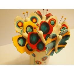 papillon céramique sur tige à piquer PM