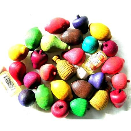 fruits et boules en bois parfumé (sac de 50)