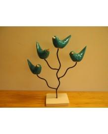 4 oiseaux Edith sur arbre