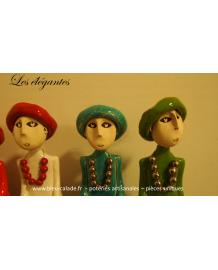 Les élégantes au chapeau