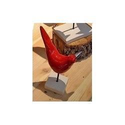 Oiseau céramique Edith sur socle