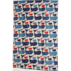 Torchon baleines lin et coton