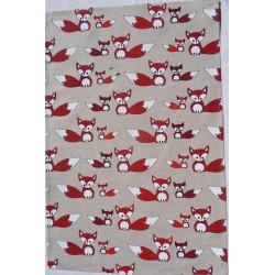 Torchon renards lin et coton