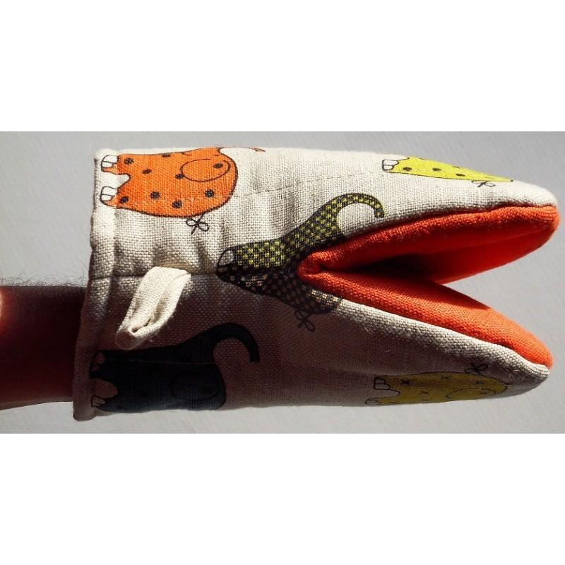 gant pince motif éléphants