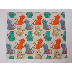 set de table  lin et coton motif colorés