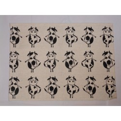 set de table lin et coton motif vaches
