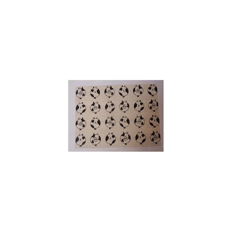set de table  lin et coton motif cochons