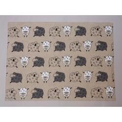 set de table lin et coton motif moutons