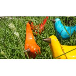 Oiseau céramique Edith sur tige H 1 mètre
