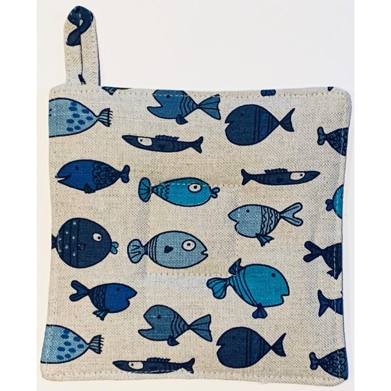 Manique poissons bleus