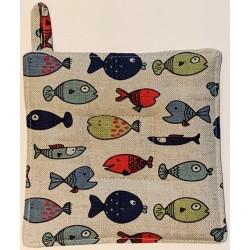 Manique poissons multicolores