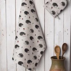 torchon hérissons lin coton