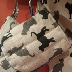 gant pince motif ombres de chats