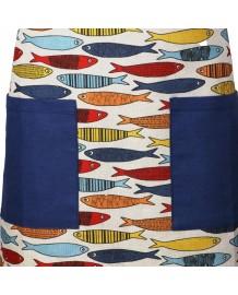 Tablier sardines  lin et coton