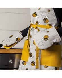 gant pince motif abeilles