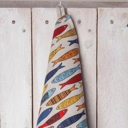 torchon sardines couleurs  lin coton