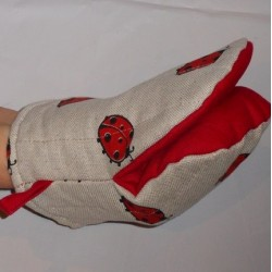 gant pince motif coccinelles