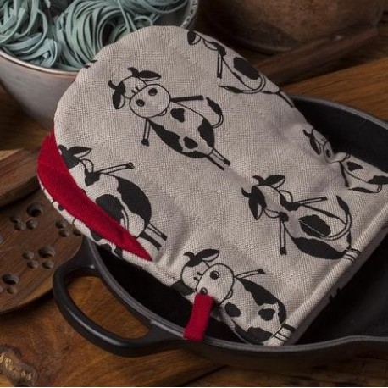 gant pince motif vaches