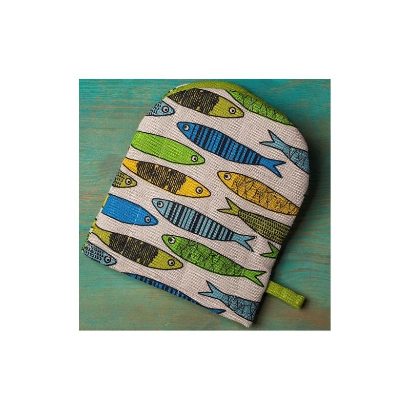 gant pince motif sardines