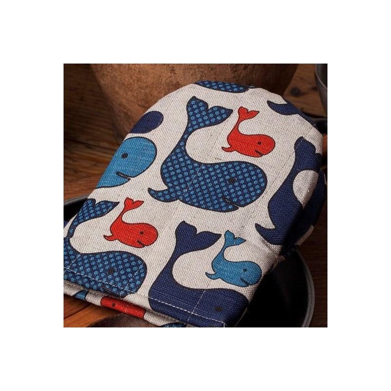 gant pince motif cochons
