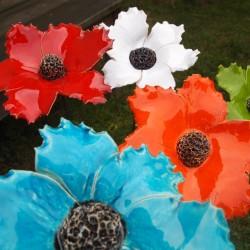 fleur céramique grand modèle