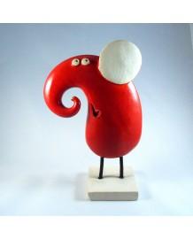 Eléphant céramique profil Cléo